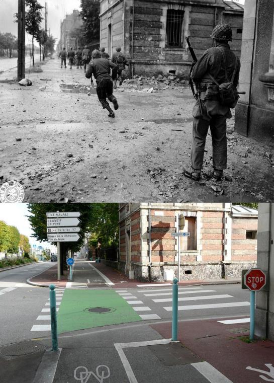 Cherbourg avenue Paris, antes y después.
