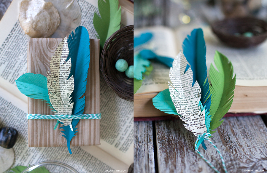 Diy Sencillas Plumas De Papel Para Decorar Regalos